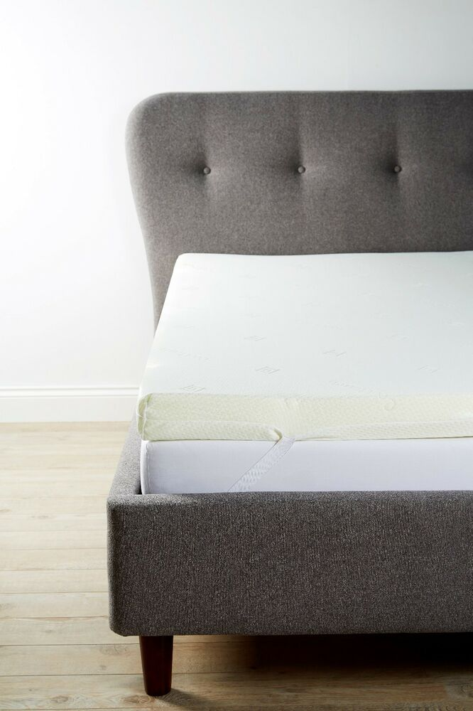 Orthopaedic Hypoallergenic Memory Foam Mattress Topper All Sizes Cotton Cover Ebay