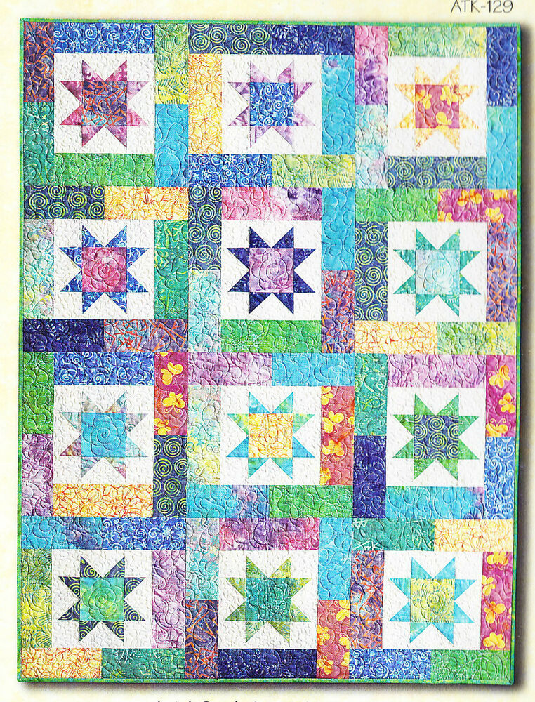 Lucky Stars Quick And Easy Pieced Quilt Pattern