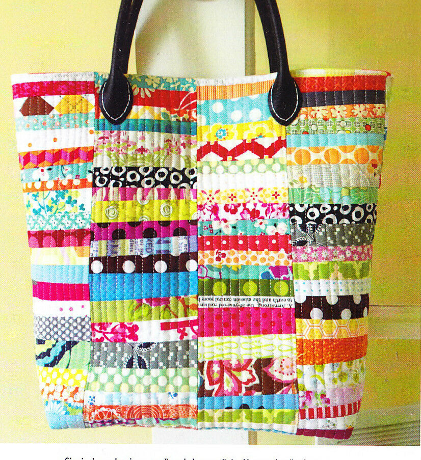 Quilting Purse Patterns Free : PATTERN - Scrap Happy Purse - fun pieced bag PATTERN - Crazy Mom Quilts eBay