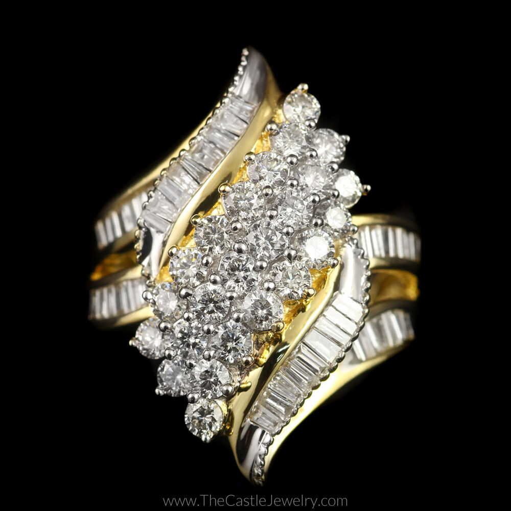 how to tell if a diamond cluster ring is real