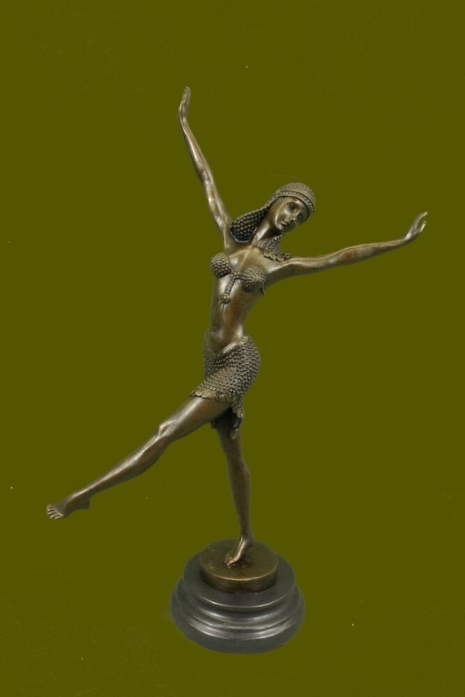 signed d h chiparus bronze statue art deco dancer sculpture hot cast figurine ebay. Black Bedroom Furniture Sets. Home Design Ideas