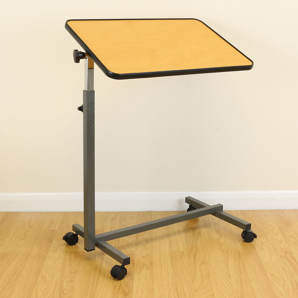 Deluxe mobile table for eating dinner breakfast over bed for Table bed chair