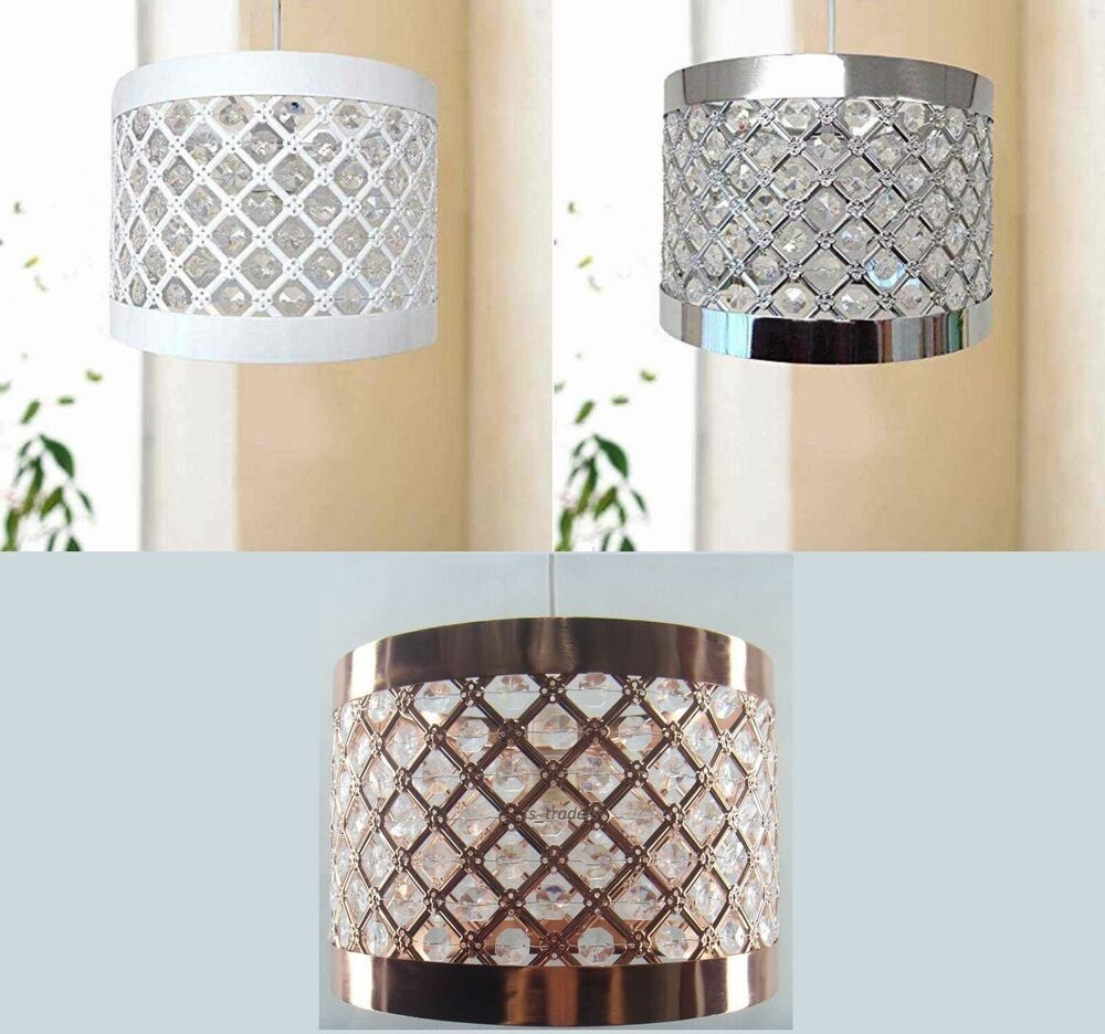 Easy Ceiling Lamp Shade: New Easy Fit Moda Sparkly Ceiling Pendant Light Shade