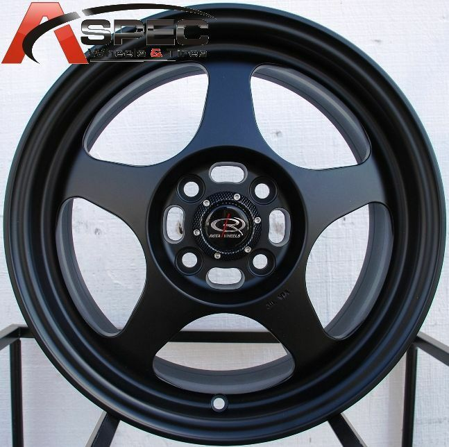 rota slipstream rims  flat black wheel fits  lug neon celica corolla ebay