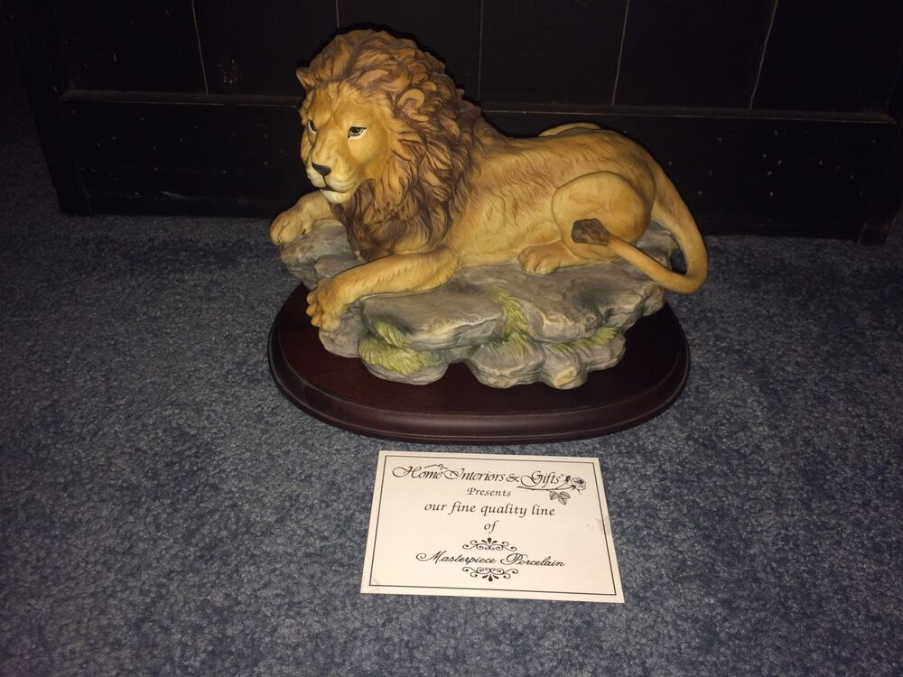 home interior lion picture home interiors masterpiece porcelain s pride 11024 18316