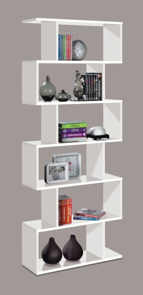 Living Room With Bookshelf: Ciara Living Room 6 Tier Bookcase Room Divider Display