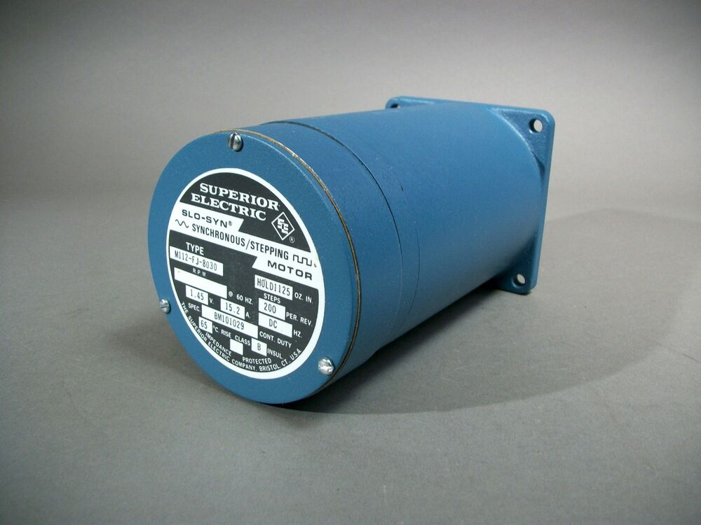 Superior electric m112 fj 8030 slo syn stepping motor for Superior electric slo syn motor