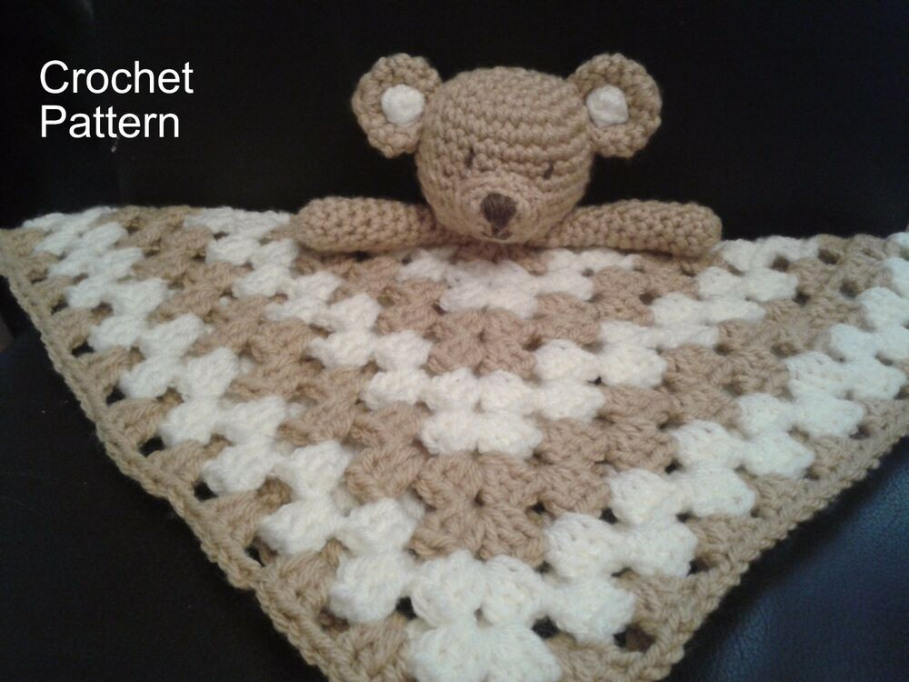 Free Pattern Crochet Lovey : Teddy Bear Blankie Baby Toy Lovey Lovie Crochet PATTERN by ...