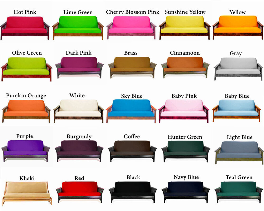 twin full queen fit 6 8 inch futon cover optional add matching pillow cover ebay. Black Bedroom Furniture Sets. Home Design Ideas