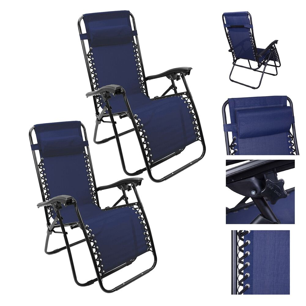 Lounge Chair Recliner Sun Patio Pool Beach Outdoor Folding