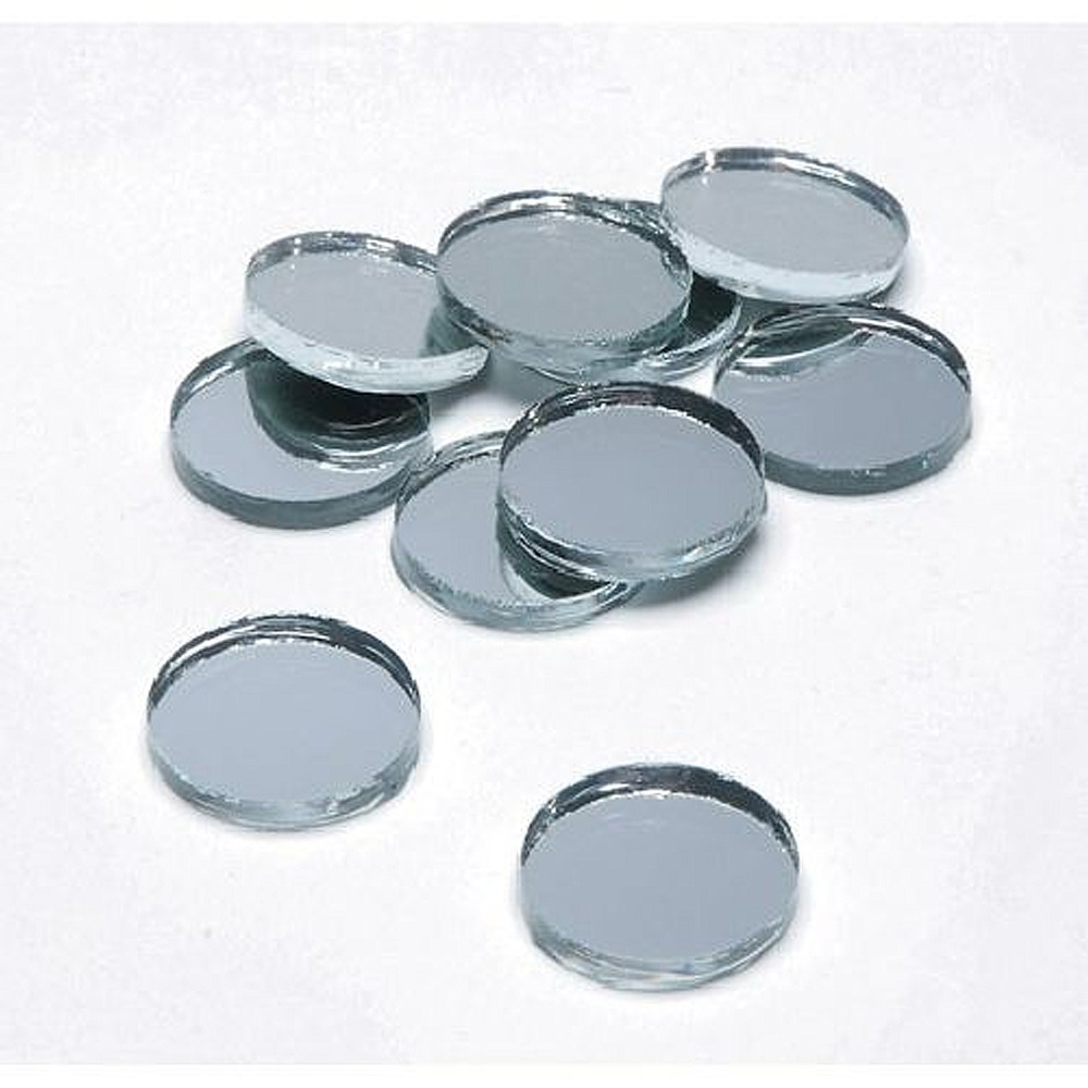 1 2 inch glass craft mini round mirrors 10 pieces small for Small round craft mirrors