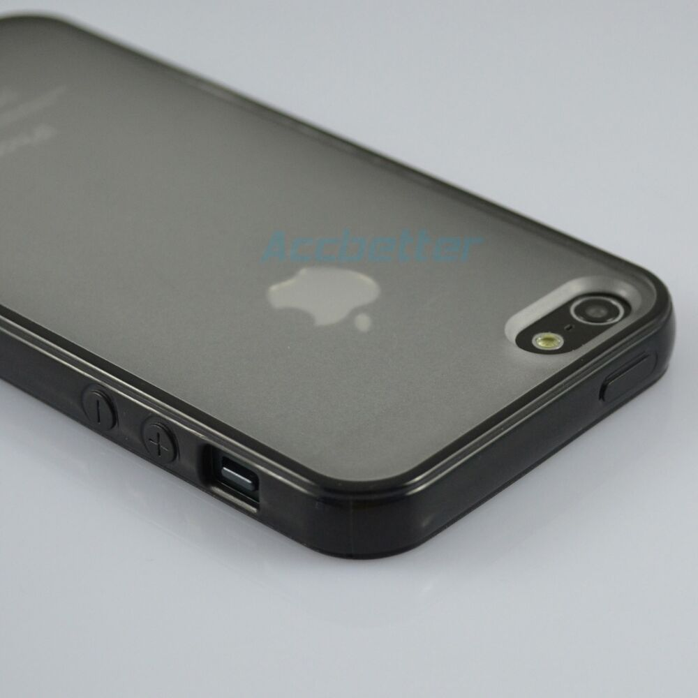 iphone bumper case tpu silicone gel soft bumper frame w clear back 11665