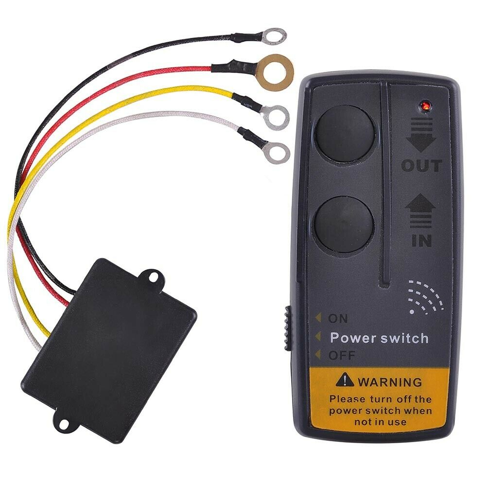 65ft 12v wireless winch remote control kit switch handset