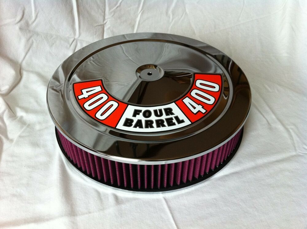 Plymouth Air Cleaner : Chrome air cleaner washable filter mopar plymouth fits