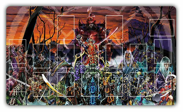 D788 Free Mat Bag Six Samurai Yugioh Playmat Custom Play