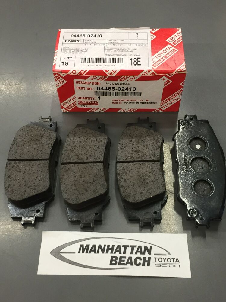 Toyota Brake Pads >> 2014-2019 COROLLA FRONT Brake Pads NEW Genuine Toyota OEM ...