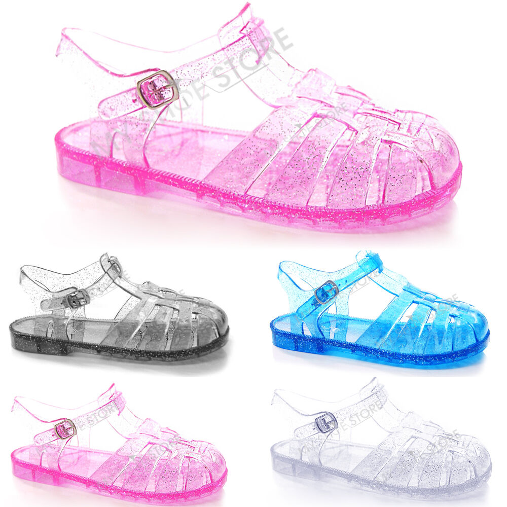 Girls Glitter Jelly Shoes