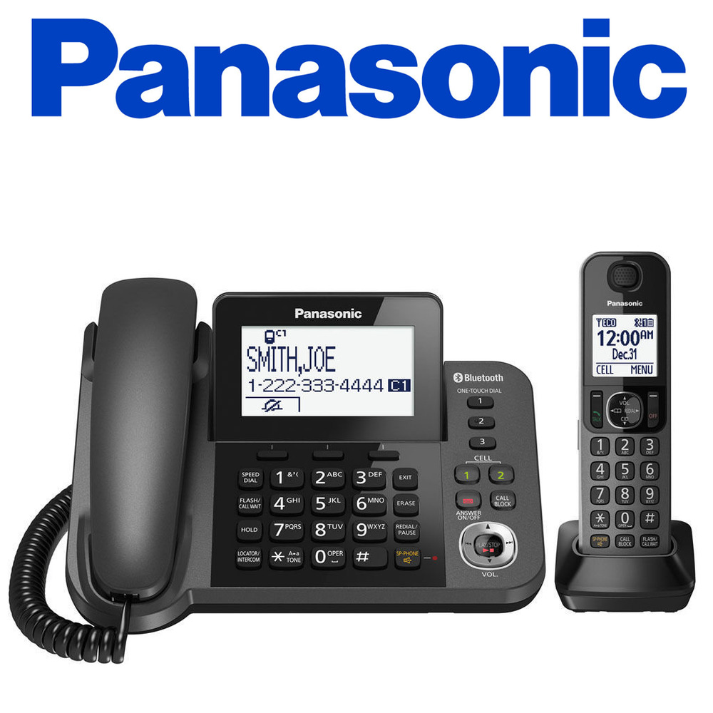 panasonic kx tgf380m link2cell bluetooth corded cordless phone answering machine 885170234291 ebay. Black Bedroom Furniture Sets. Home Design Ideas