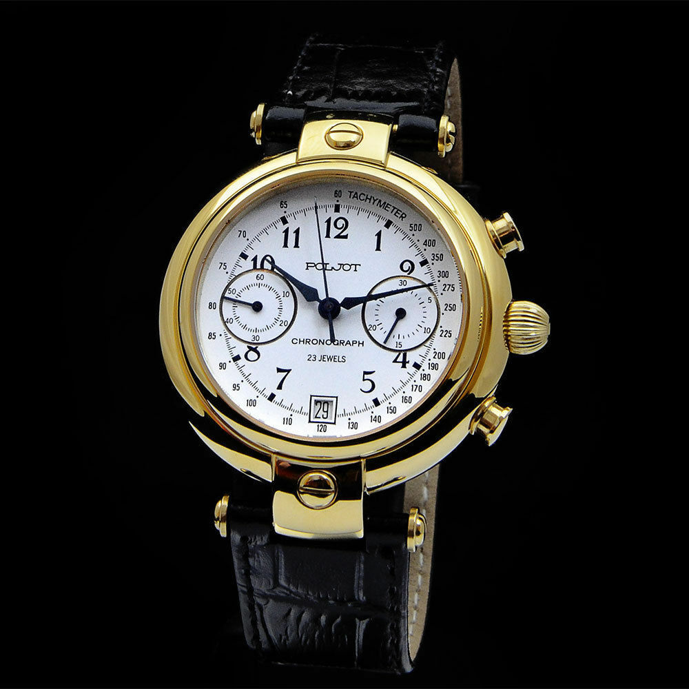 Poljot basilika chronograph 3133 russian mechanical watch mechanisch wa ebay for Foljot watches