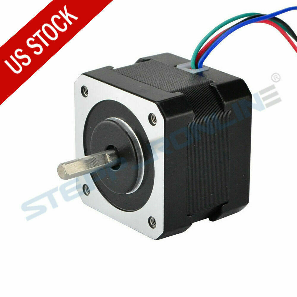 Us ship nema 17 stepper motor 12v 0 4a 3d pinter for Nema design b motor