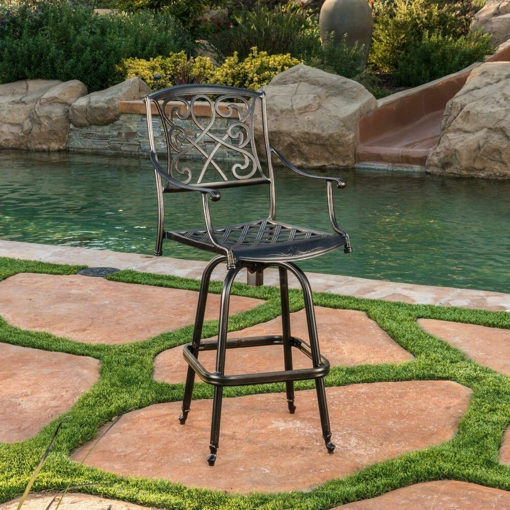 Outdoor Patio Furniture Cast Aluminum Swivel Bar Stool eBay : s l1000 from www.ebay.com size 1000 x 1000 jpeg 231kB