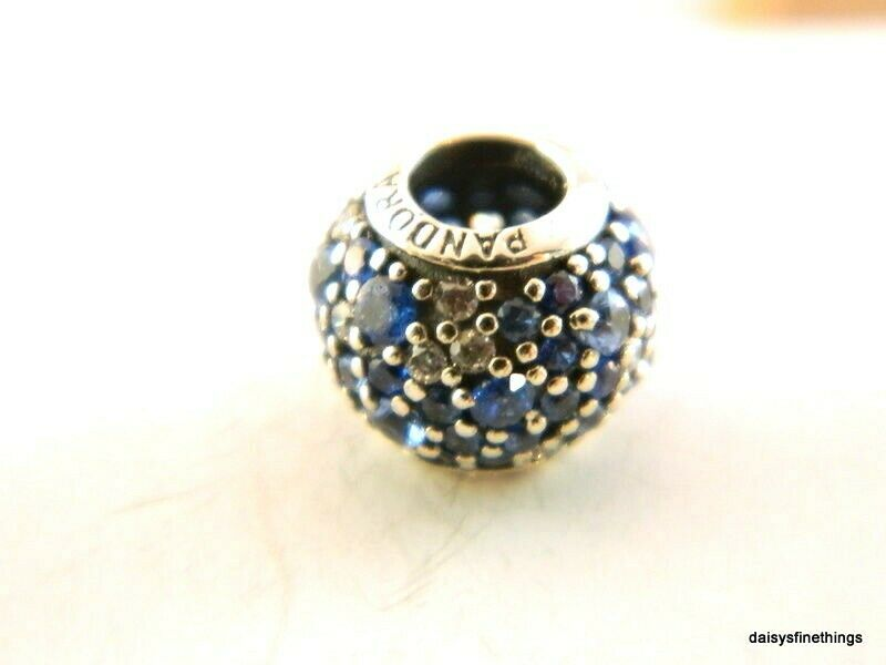 New  Authentic Pandora Charm Sky Mosaic Pave  791261nsbmx