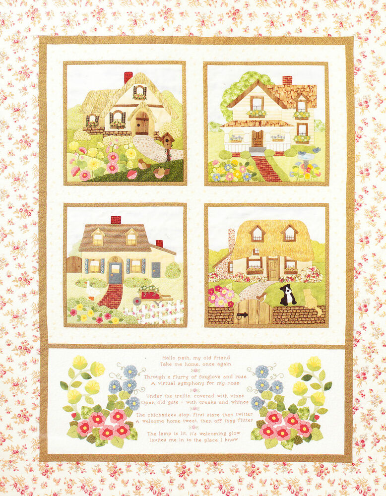 Welcome Home Pretty Applique And Pieced Quilt Pattern