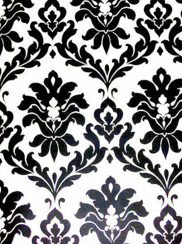 Black white damask wallpaper vg26230p ebay for Black white damask wallpaper mural