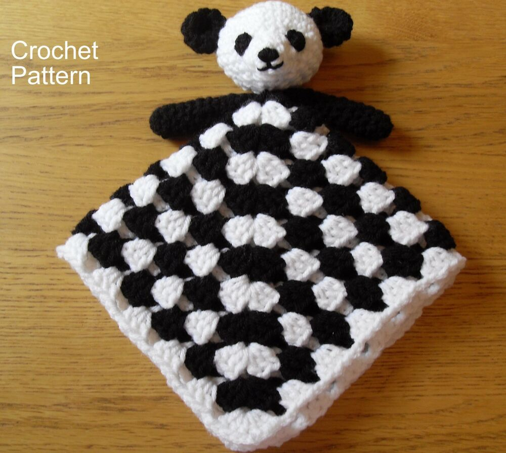 Panda Bear Baby Lovie Toy Comforter Lovey Security