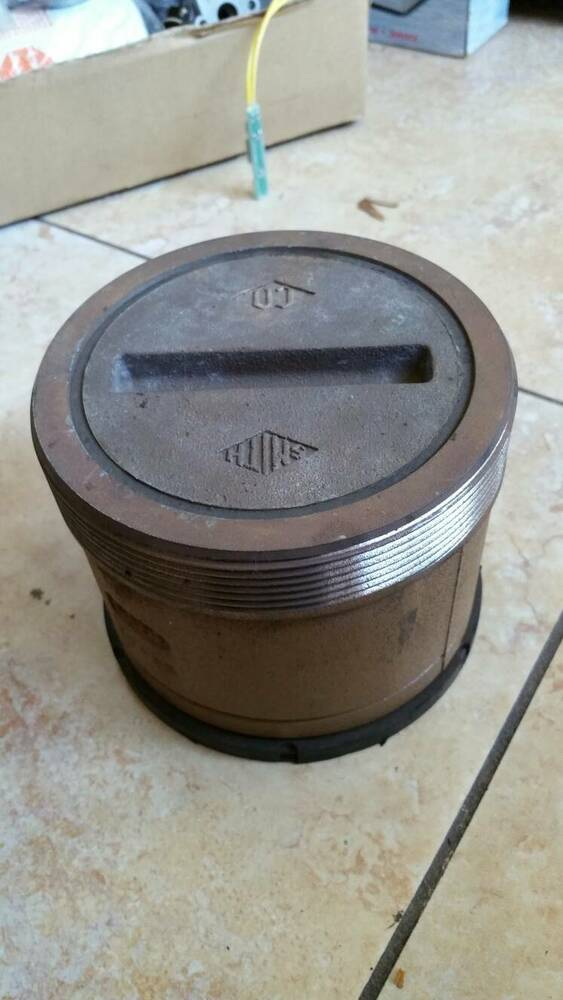 Smith cast iron with brass threaded cap cleanout body