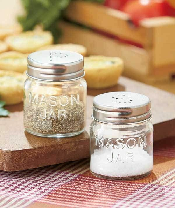 Country Mason Jar Home Decor Mason Jar Salt Pepper