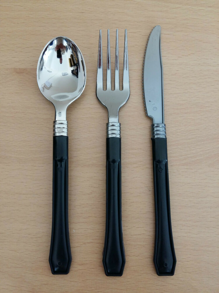 36 Premium Plastic Knives Forks Spoons Disposable Cutlery