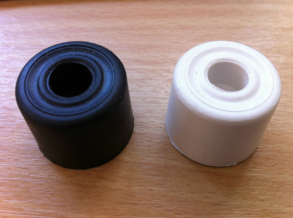 Rubber door stop black or white 28mm stopper wedge 2 5 10 20 50 100 cheap ebay - Door stoppers rubber ...