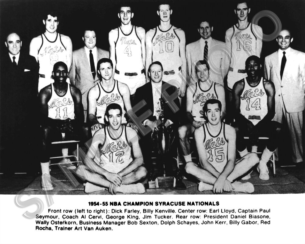 1954 55 SYRACUSE NATIONALS NBA CHAMPIONS 8X10 TEAM PHOTO