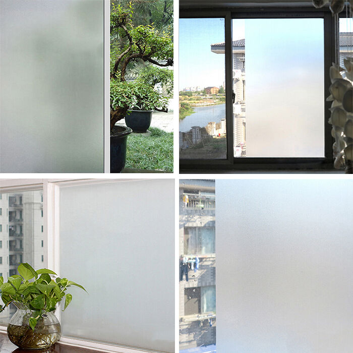 1 x waterproof pvc privacy frosted home bedroom bathroom window glass film ebay. Black Bedroom Furniture Sets. Home Design Ideas