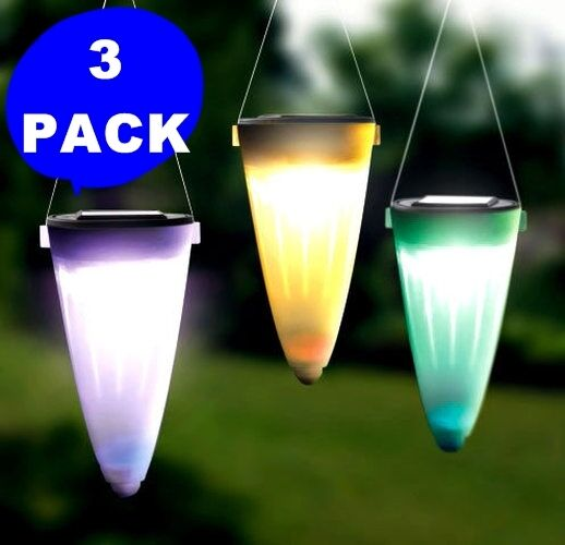 3 pack solar powered tree hanging or pathway lawn led patio lamp light sun power ebay. Black Bedroom Furniture Sets. Home Design Ideas