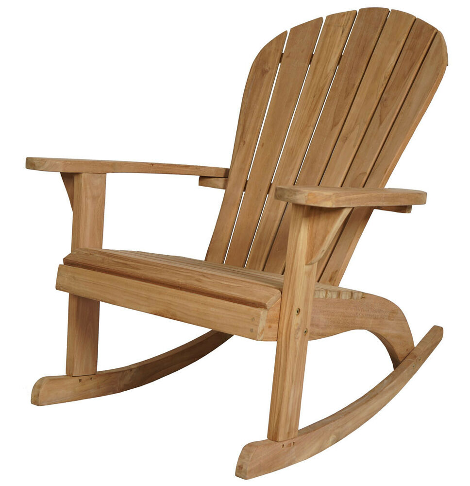 kmh teak adirondack schaukelstuhl chair relaxsessel stuhl deckchair holz sessel ebay. Black Bedroom Furniture Sets. Home Design Ideas