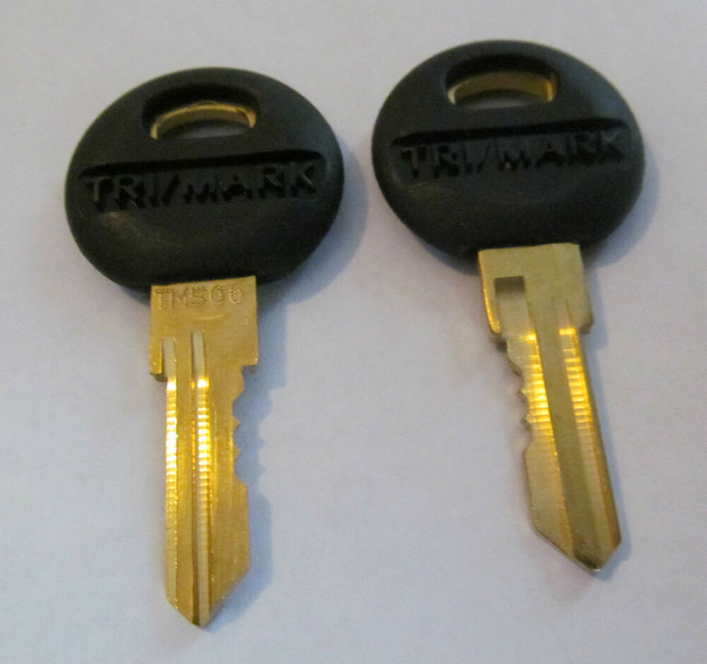 2 Trimark Keys Tm500 60 400 Compartment Key Rv Lock