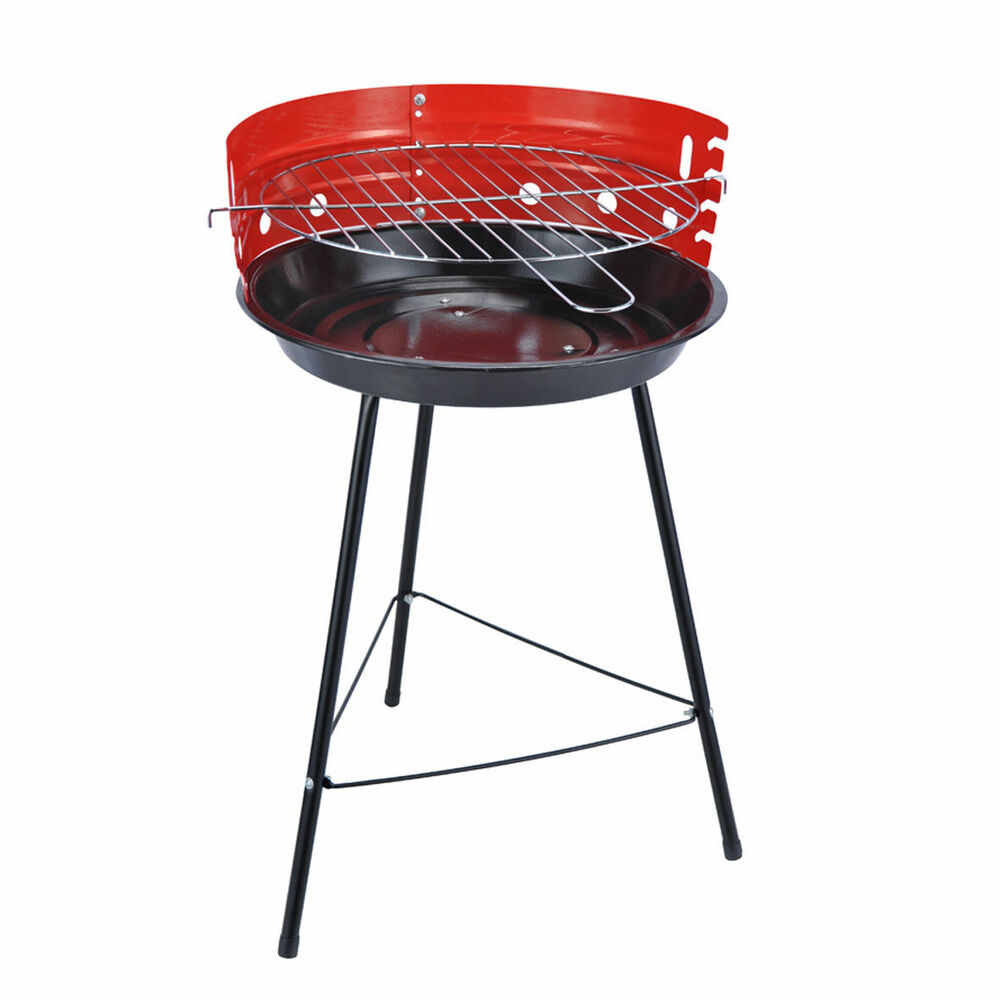 Portable Round Barbecue Bbq Charcoal Grill Adjustable
