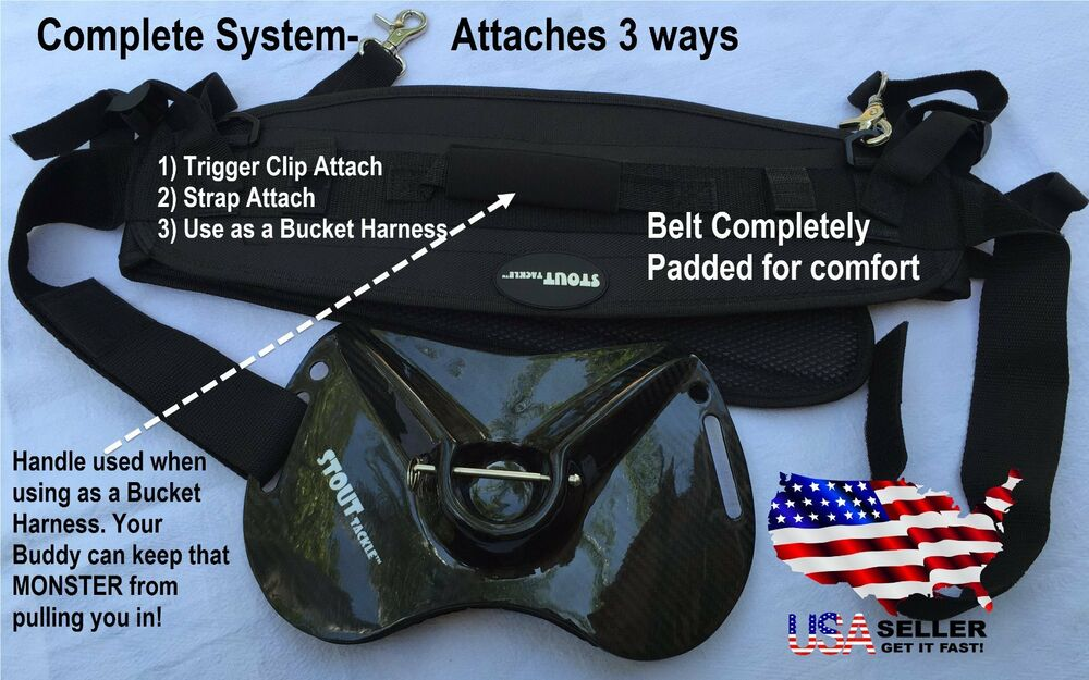 Carbon fiber fish fighting belt system ebay for Fish fighting belt
