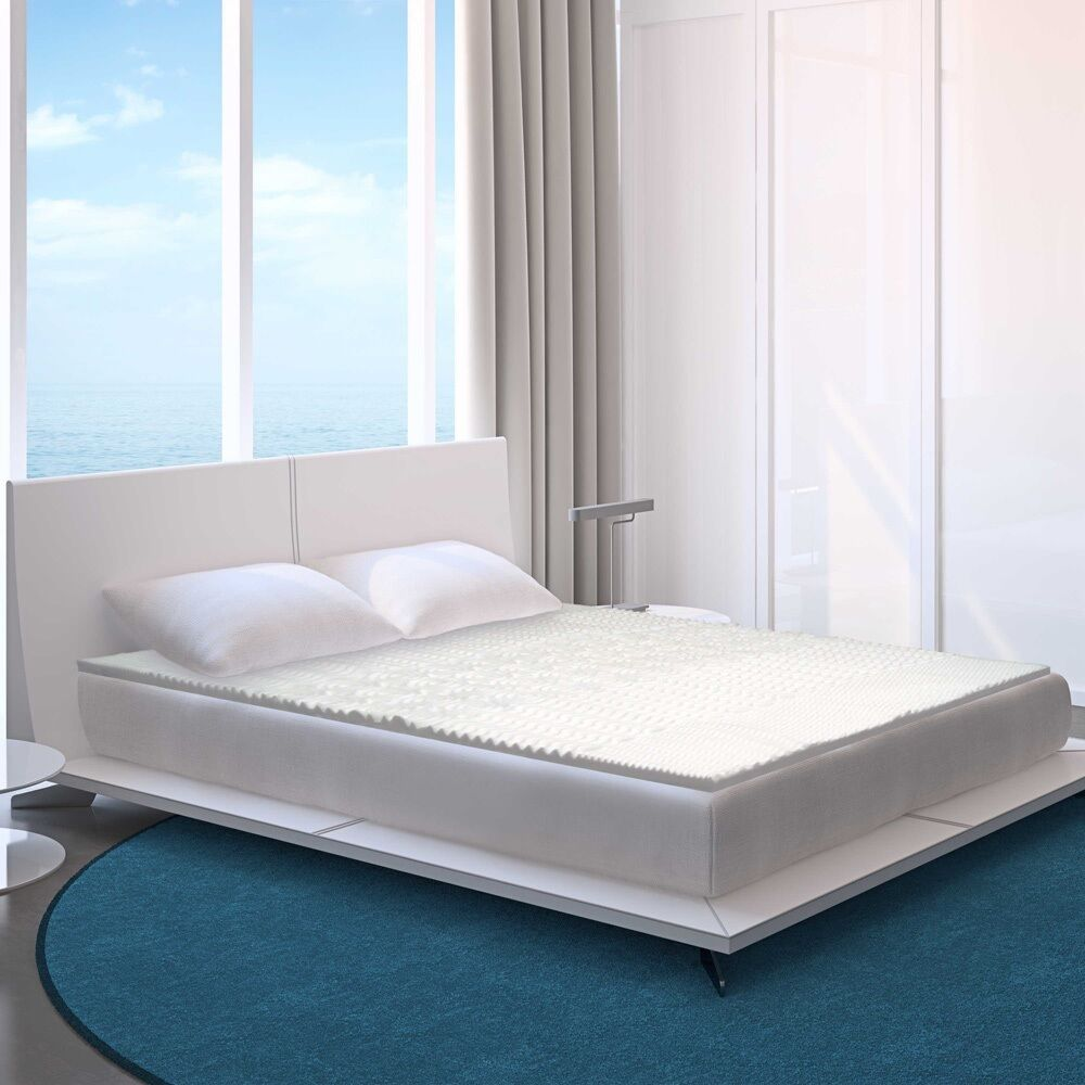 5 zone foam mattress topper bed bedding cushion firm body support back pad cover ebay. Black Bedroom Furniture Sets. Home Design Ideas