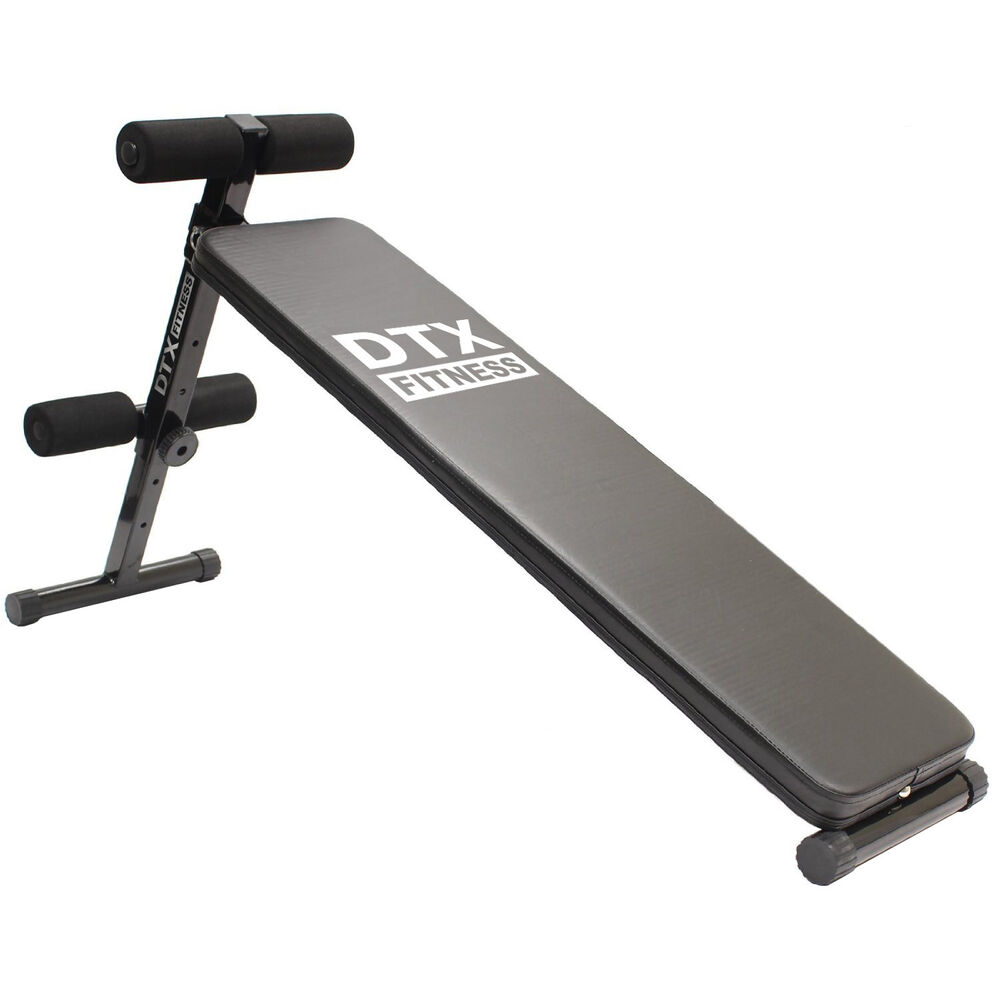 Dtx fitness sit up ab bench stomach ab abs workout folding situp board home gym ebay Abs bench