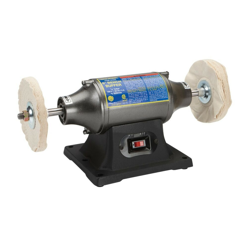 6 Quot Buffer Polisher Heavy Duty 1 2 Hp Motor Smooth Metal
