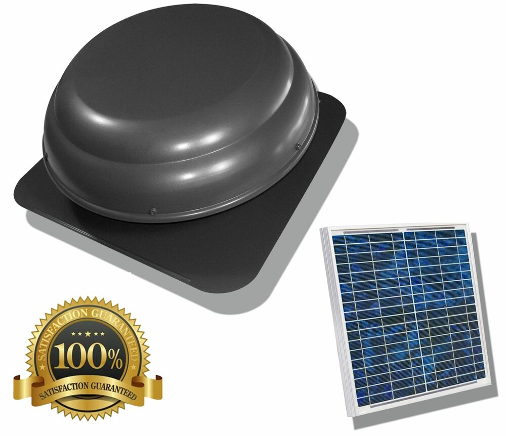 Air Vent Solar Power Attic Fan Roof Mounted 1000 CFM Instructions ...