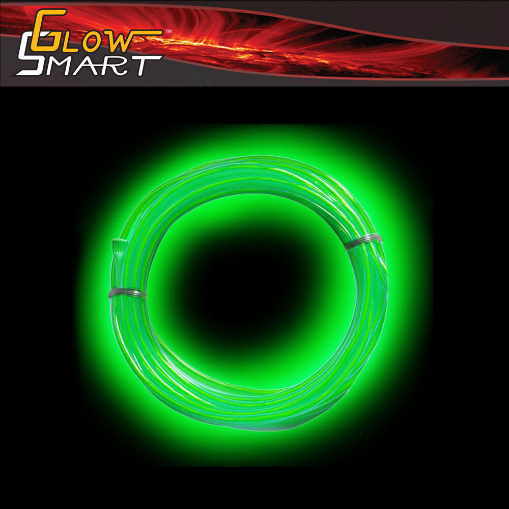 5 ft flexible el wire neon green led light rope for car decorative party lights ebay. Black Bedroom Furniture Sets. Home Design Ideas