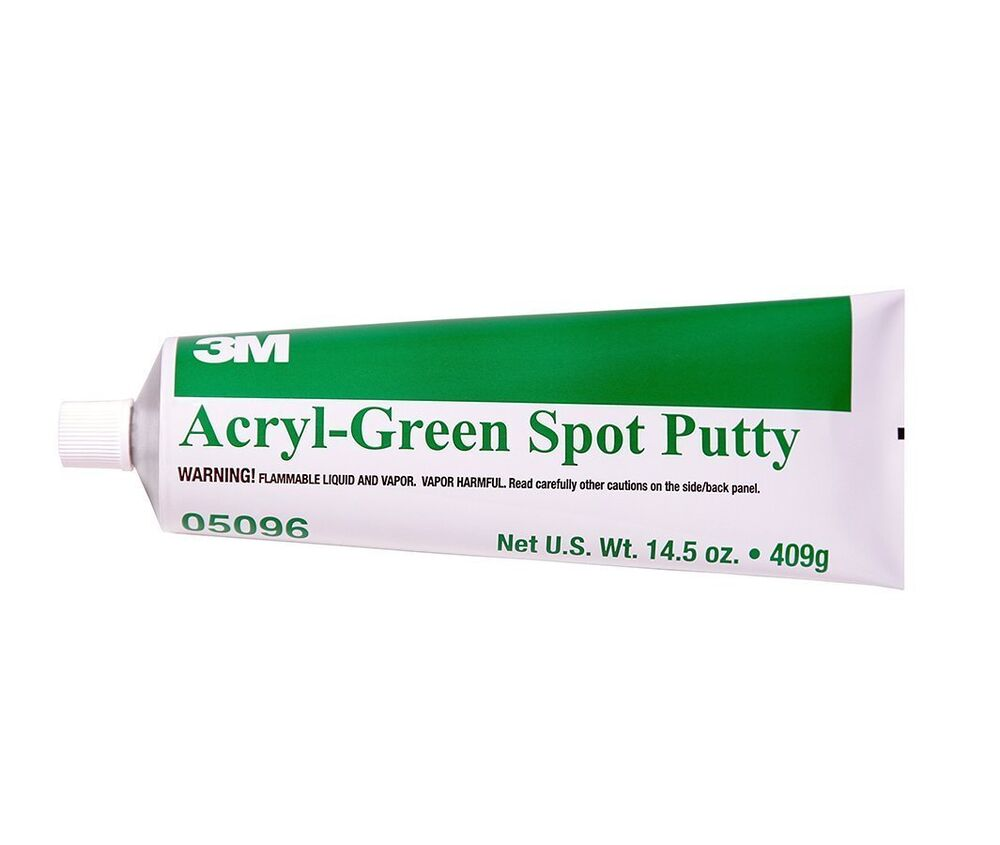 3m 05096 acryl green spot putty tube 14 5 oz ebay. Black Bedroom Furniture Sets. Home Design Ideas