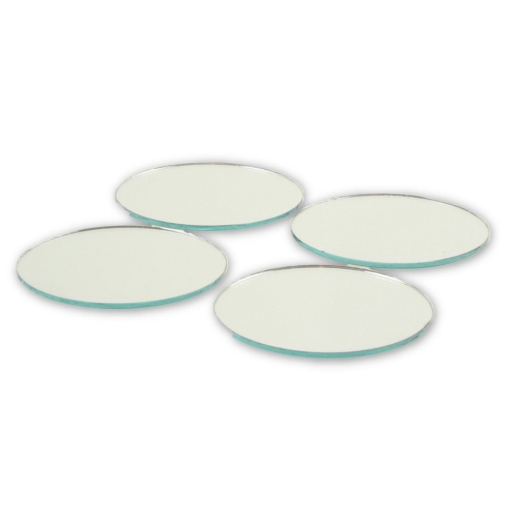 2 inch glass craft mini small round mirrors 24 pieces for Glass and mirror craft