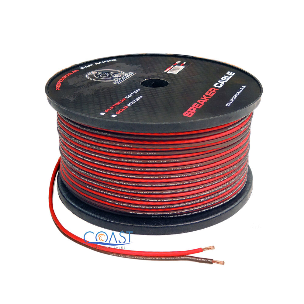 Speaker Cables In Car : red 300 ft true 14 gauge awg car home audio speaker wire cable spool ebay ~ Hamham.info Haus und Dekorationen