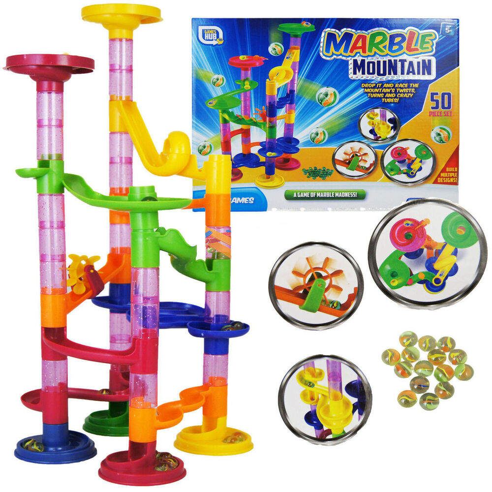 Marble Toys Blocks : Pcs marble run race set building blocks construction