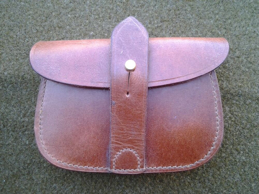 leather ammo pouch for sam browne belt ebay